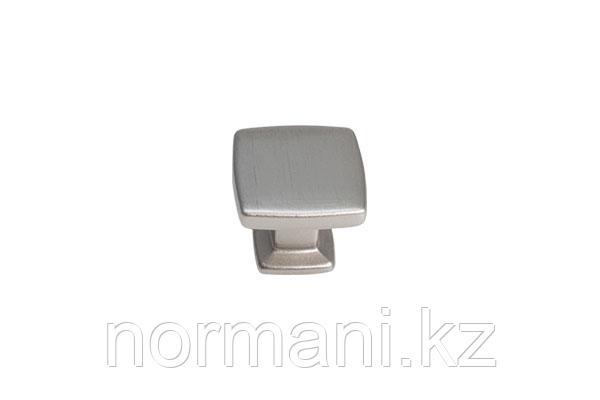 Мебельная ручка кнопка, замак, цвет никель лакированный