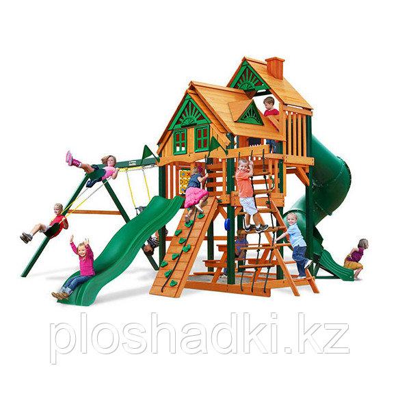 Детская площадка «Гириджи», качели, горка, скалодром, сетка лазалка, горка труба