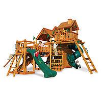 Детская площадка «Сафари», горка открыта, горка труба, сетка лазкала, домики с крышей, фото 1