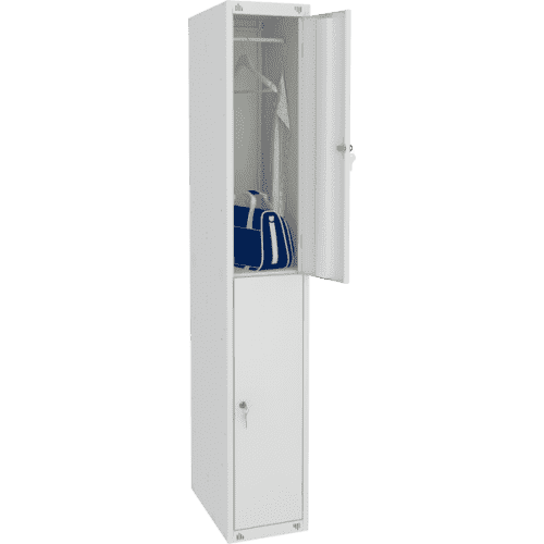 Шкаф для одежды односекционный на две ячейки (300х490х1850) арт. ШМ12