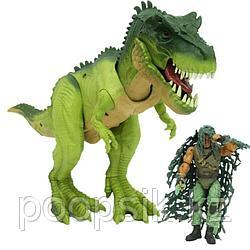 Jurassic Битва солдата с динозавром