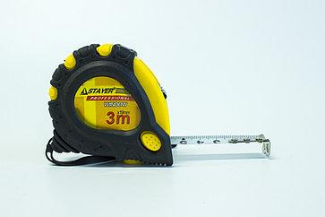 Рулетка обрезиненный корпус 3 м
