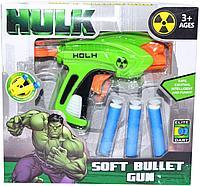 Немного помятая!!! 11216 Мстители пистолет 3 патрона Soft Bullet Gun 20*19см