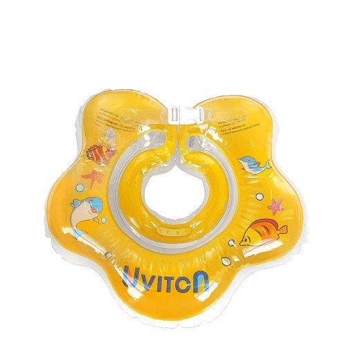 Круг для купания с погремушкой (желтый) Uviton