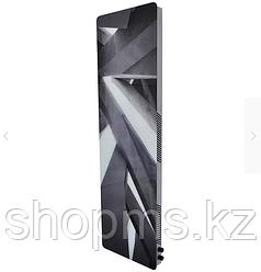 Вертикальный дизайн-радиатор SAVVA DRV 460*70*1500  3 бок прав RAL9003 Glass