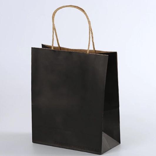 Крафт пакет Черный   20см*25см
