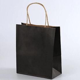 Крафт пакет Черный | 25см*30см