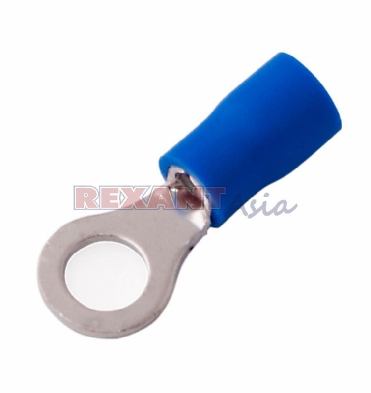 Наконечник кольцевой изолированный ø 6.5 мм 1.5-2.5 мм² (НКи 2.5-6/НКи2-6) синий REXANT, (08-0035 )