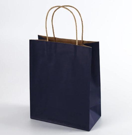 Крафт пакет Синий   25см*30см