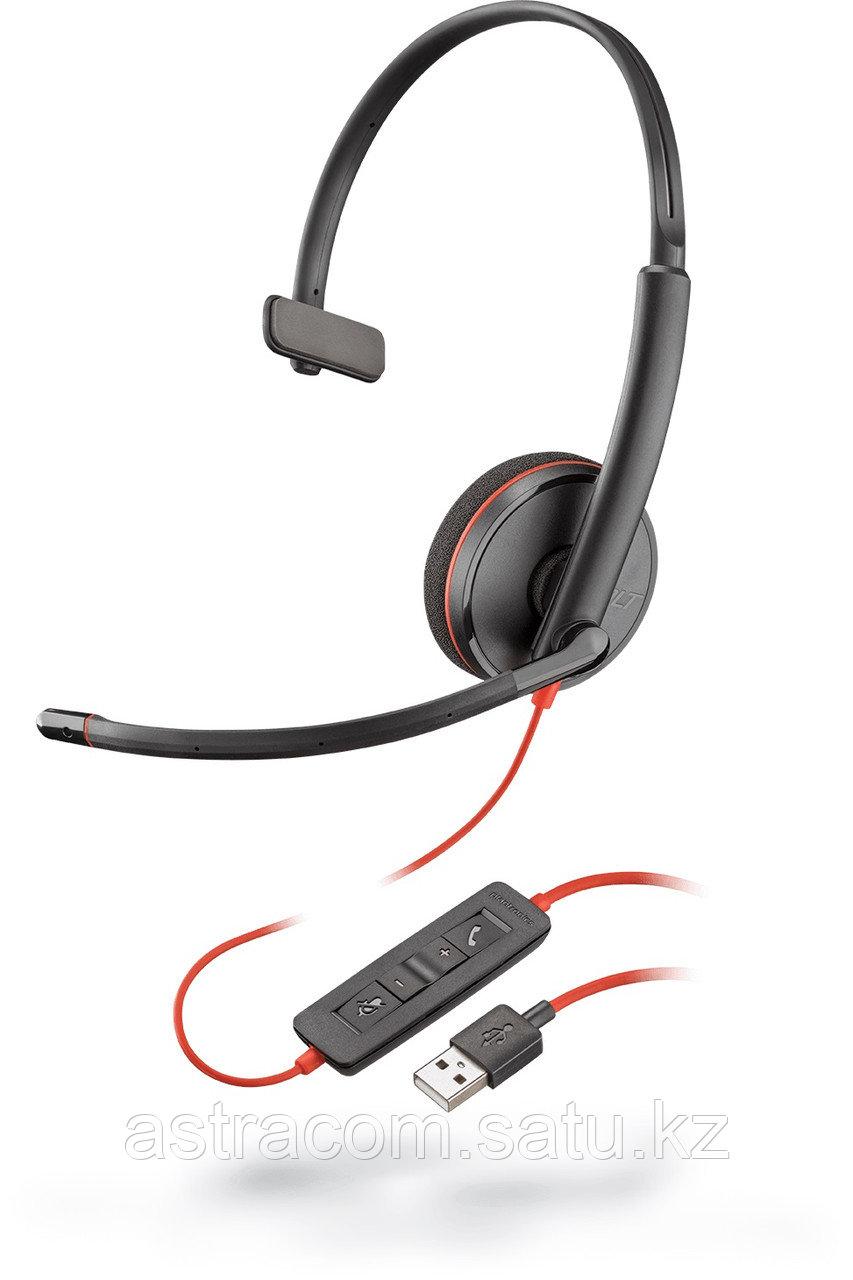 Plantronics BLACKWIRE,C3210 USB-A(209744-101), Гарнитура, 1 динамик,USB
