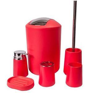Набор аксессуаров для ванной комнаты и туалета Bathloox [6 предметов] (Оранжевый)