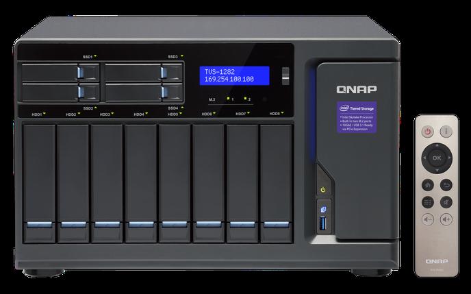 Сетевое хранилище QNAP TVS-1282-I3-8G, фото 2