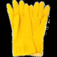 Перчатки резиновые жёлтого цвета