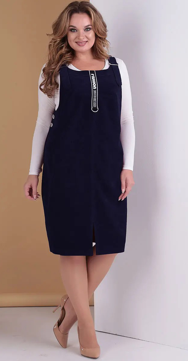 Платье Hit-275/1 Тэнси, темно-синий, 48