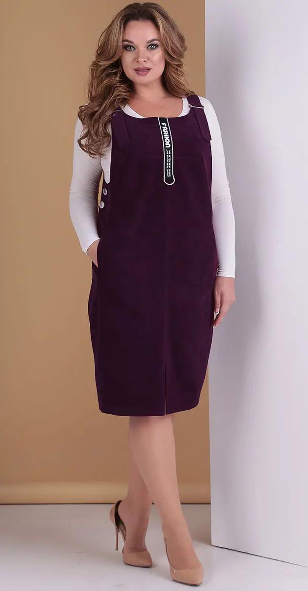 Платье Hit-275/2 Тэнси, ежевика, 48