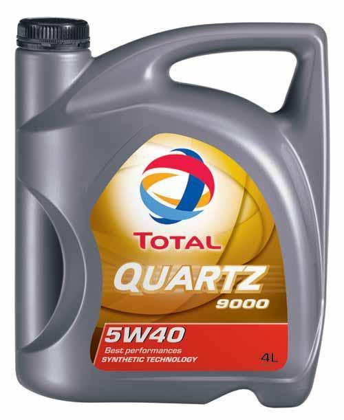 Масло TOTAL QUARTZ 9000 5W-40 синтетическое 4л.