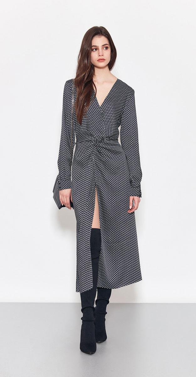 Платье Favorini-21301, черно-белый, 42