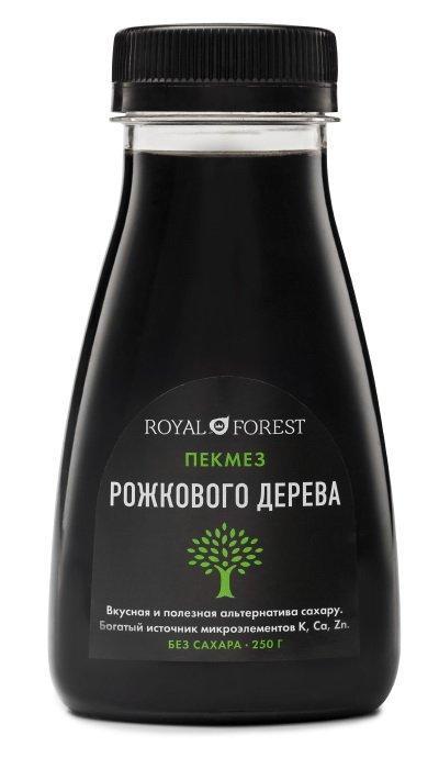 Сироп рожкового дерева (carob syrup) Royal Forest, 250 гр