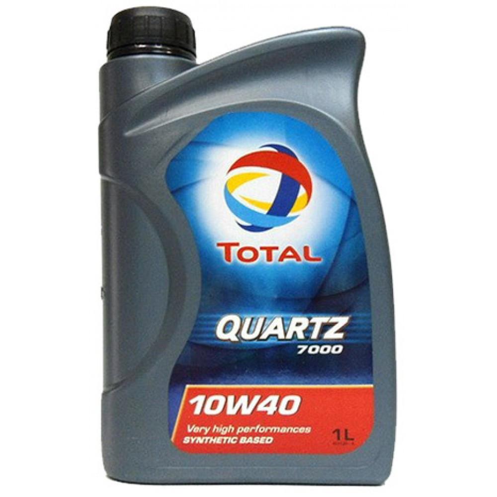 Total QUARTZ 7000 10W-40 полусинтетическое моторное масло 1л.