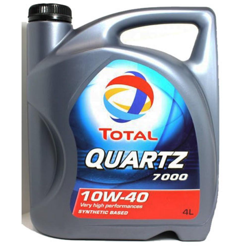 Total QUARTZ 7000 10W-40 полусинтетическое моторное масло 4л.