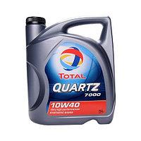 Total QUARTZ 7000 10W-40 полусинтетическое моторное масло 5л., фото 1