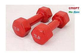 Фитнес гантели (пара, цветные) неопреновые 7LB