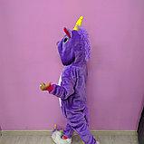 Детская пижама кигуруми единорог фиолетовый, фото 2