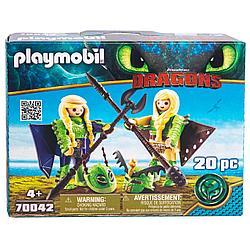 Конструктор Playmobil Драконы III: Забияка и Задирака в летном костюме