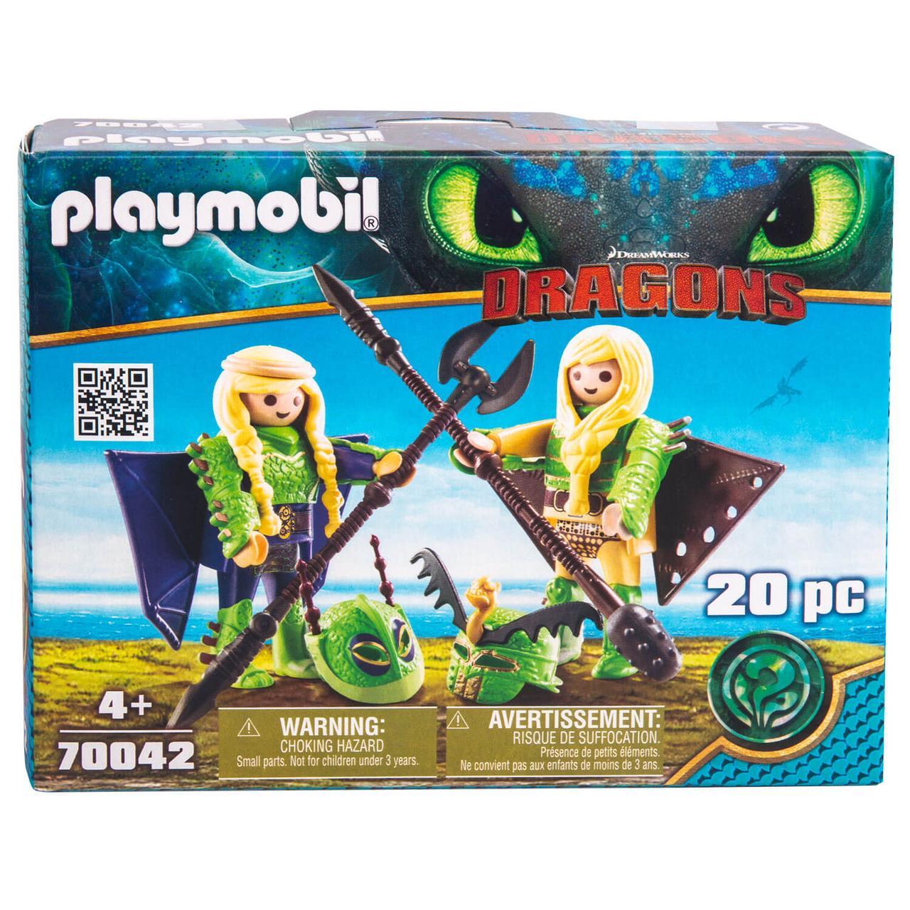 Конструктор Playmobil Драконы III: Забияка и Задирака в летном костюме - фото 1