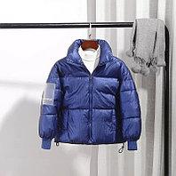 Осенняя куртка из пухового хлопка от 6 до 13 лет для девочки, синяя., фото 1