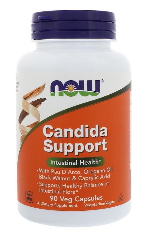 Now Foods, Candida Support, 90 растительных капсул