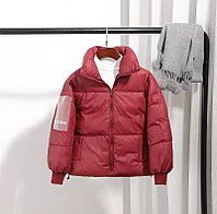 Осенняя куртка из пухового хлопка от 6 до 13 лет для девочки, бордовая., фото 1