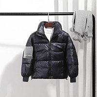 Осенняя куртка из пухового хлопка от 6 до 13 лет для девочки, черная.