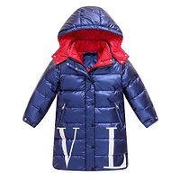 """Пуховик зимний """"Valentino""""от 4до 13лет для девочек, синий., фото 1"""