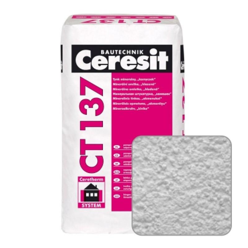 """Ceresit CT 137. Минеральная декоративная штукатурка """"камешковая"""" зерно 2,5 мм"""