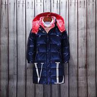 """Пуховик зимний """"Valentino""""от 4до 13лет для мальчиков, синий., фото 1"""