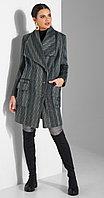 Пальто Lissana-3834, сине-зеленый оттенок, 56