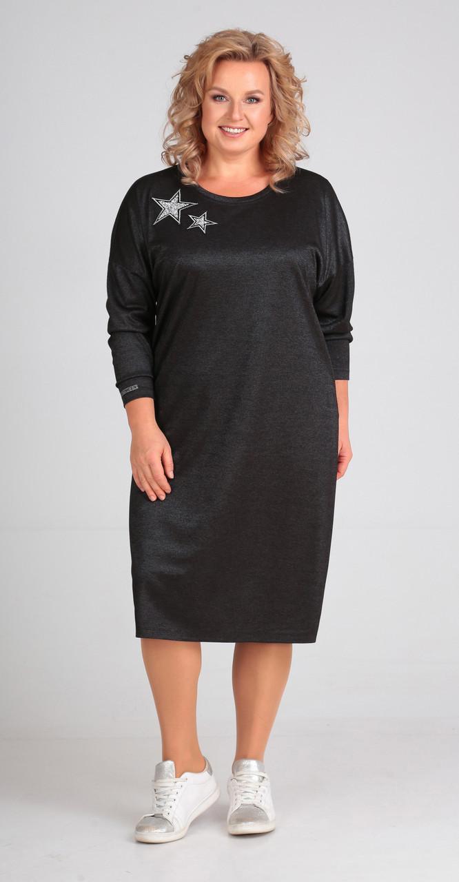 Платье Elga-636, графит, 56