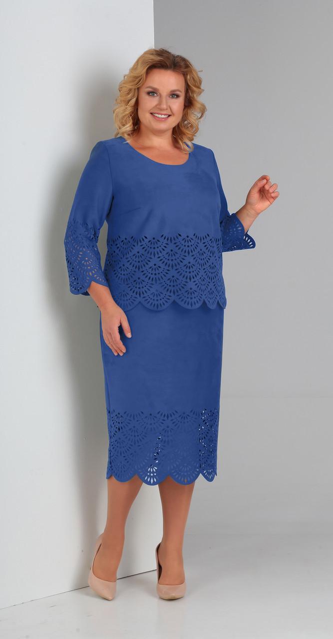 Платье Диамант-1469/2, синий, 52