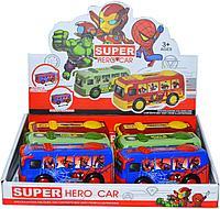 958-3C Супер герой автобус 3 вида из 6шт цена за 1шт 12*6см, фото 1