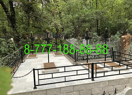 Благоустройство могилы тротуарной плиткой, фото 2
