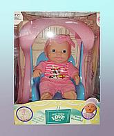 Кукла пупс с кресло-качалкой Baby Love, фото 1