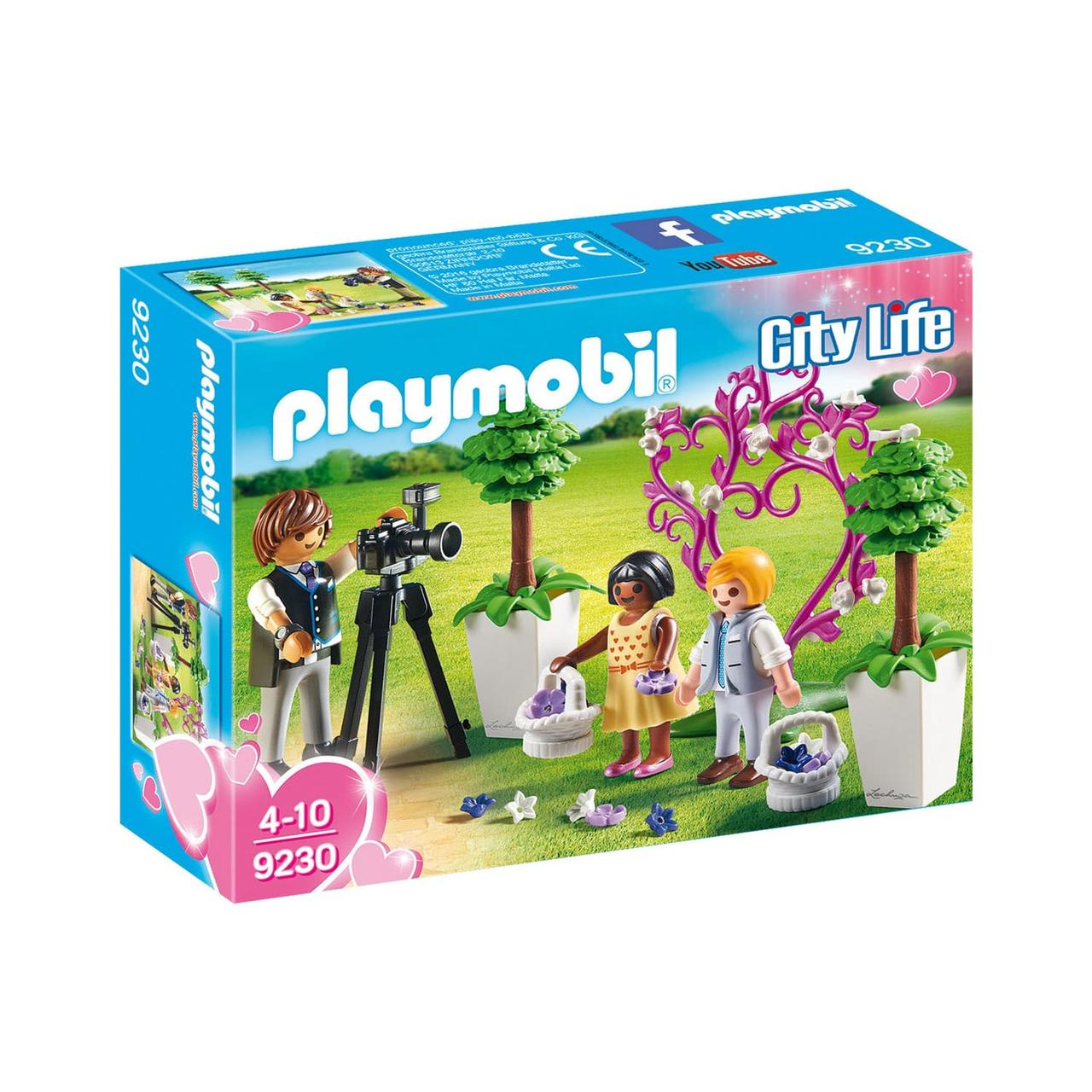 Конструктор Playmobil Фотограф и дети с цветами - фото 1