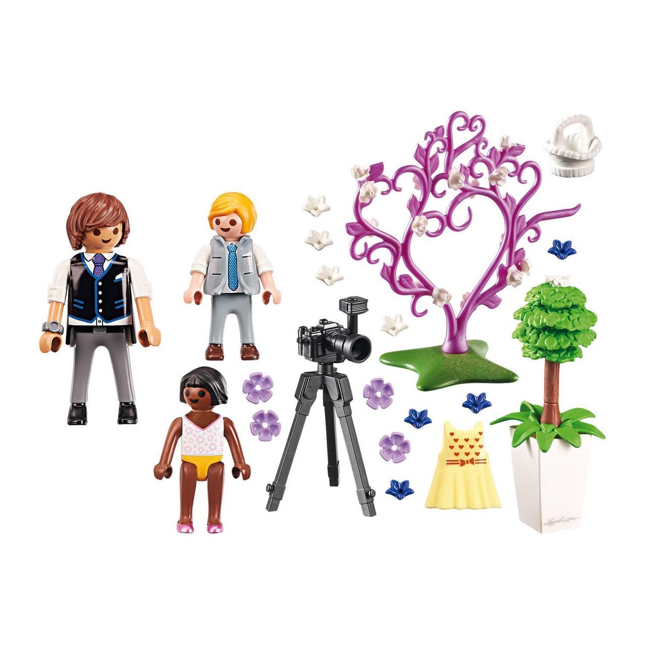 Конструктор Playmobil Фотограф и дети с цветами - фото 2