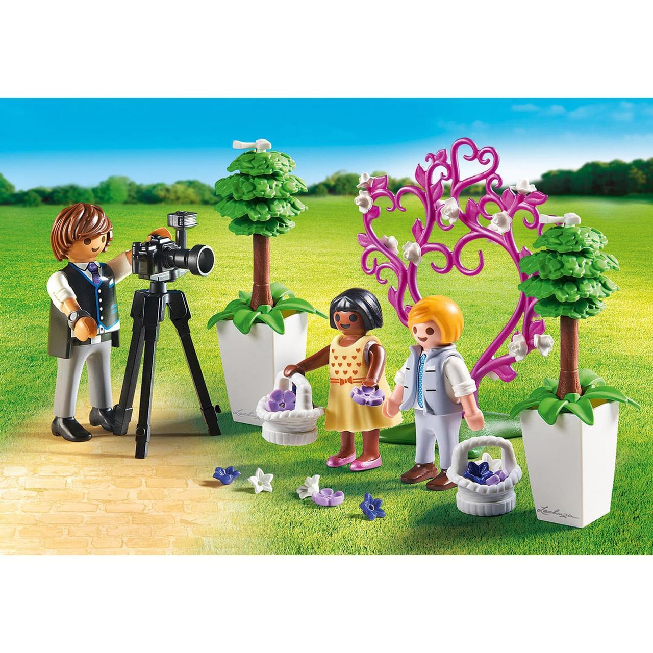 Конструктор Playmobil Фотограф и дети с цветами - фото 3