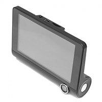 Видеорегистратор 3 камеры - задняя и салон автомобильный T655 HDR LCD 4.0 Full HD Черный 8-T655-1, фото 1