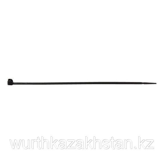 Лента для связки кабеля с метал. замком 4,5X290 мм черная