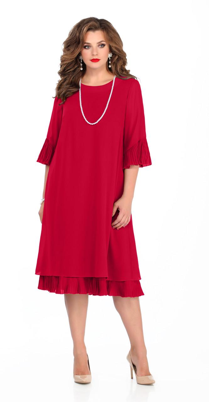 Платье TEZA-250/3, красный, 50