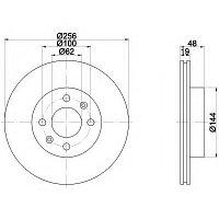 Тормозные диски Hyundai Getz (02-09, передние, NIBK), фото 1