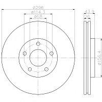 Тормозные диски  Nissan  Qashqai  (07-..., передние, Optimal), фото 1